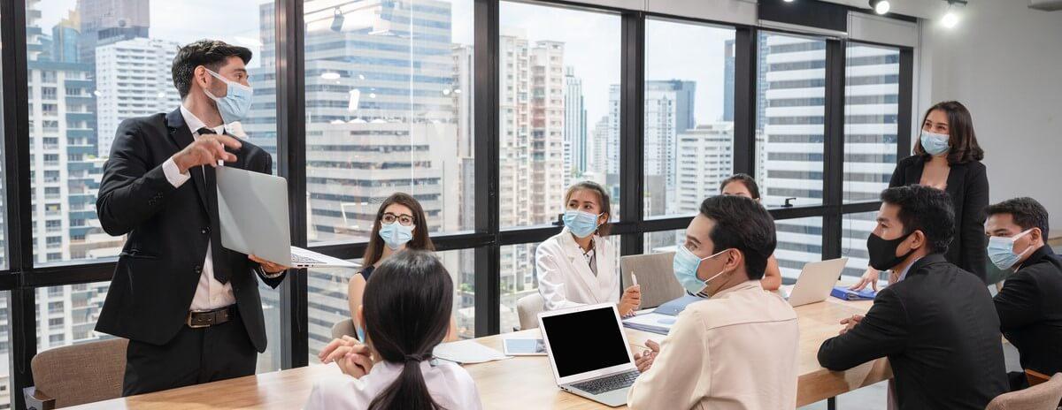 wearing facemasks workplace
